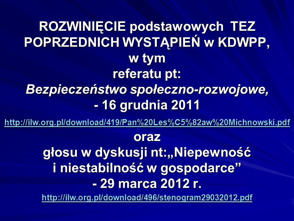 MONITORING DYNAMICZNY (GW) stanu Świata ok.