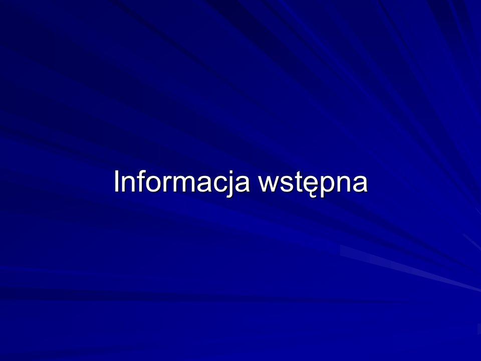 Informacja wstępna