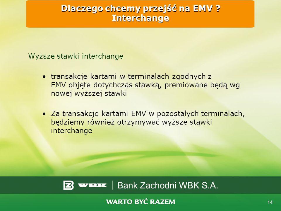 14 Dlaczego chcemy przejść na EMV .