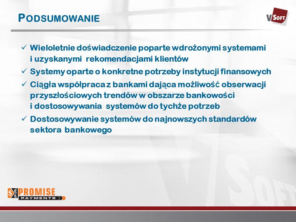 Warszawa 2007www.vsoft.pl P ODSUMOWANIE Wieloletnie do ś wiadczenie poparte wdro ż onymi systemami i uzyskanymi rekomendacjami klientów Systemy oparte