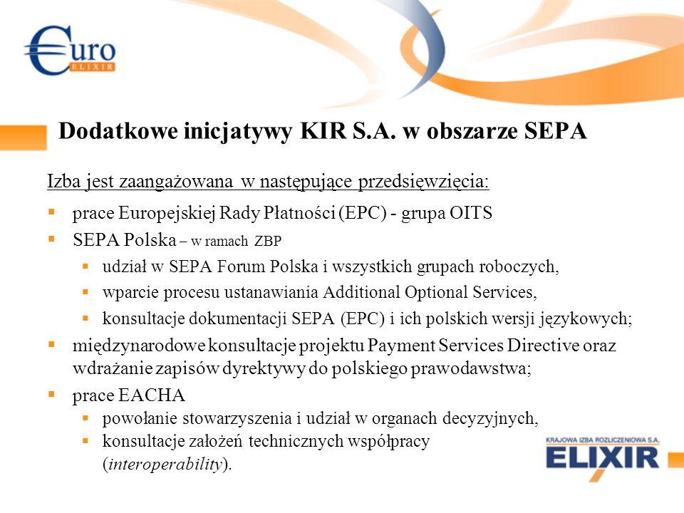 Dodatkowe inicjatywy KIR S.A.
