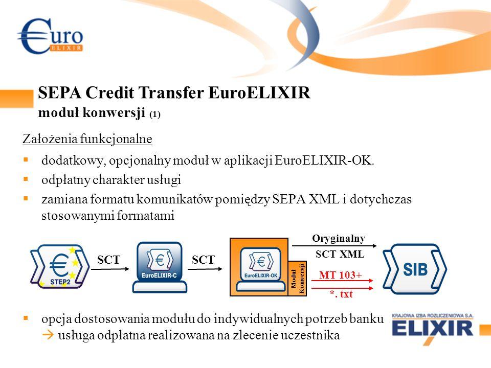 Założenia funkcjonalne dodatkowy, opcjonalny moduł w aplikacji EuroELIXIR-OK.