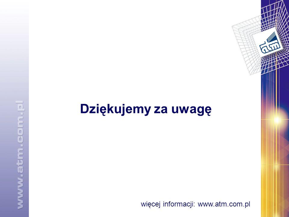 Dziękujemy za uwagę więcej informacji: www.atm.com.pl