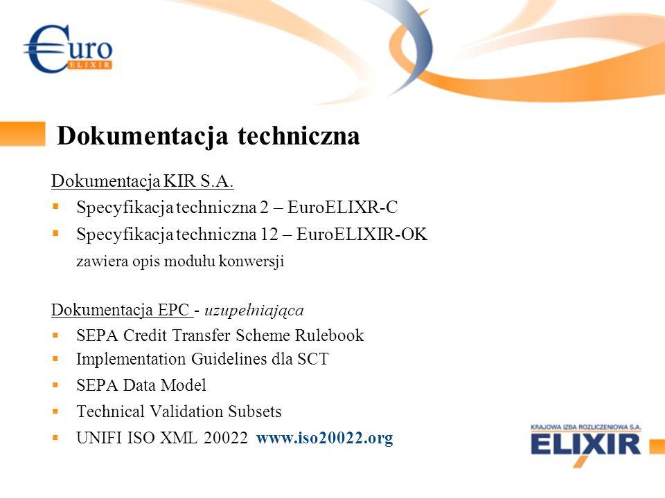 Dokumentacja techniczna Dokumentacja KIR S.A. Specyfikacja techniczna 2 – EuroELIXR-C Specyfikacja techniczna 12 – EuroELIXIR-OK zawiera opis modułu k