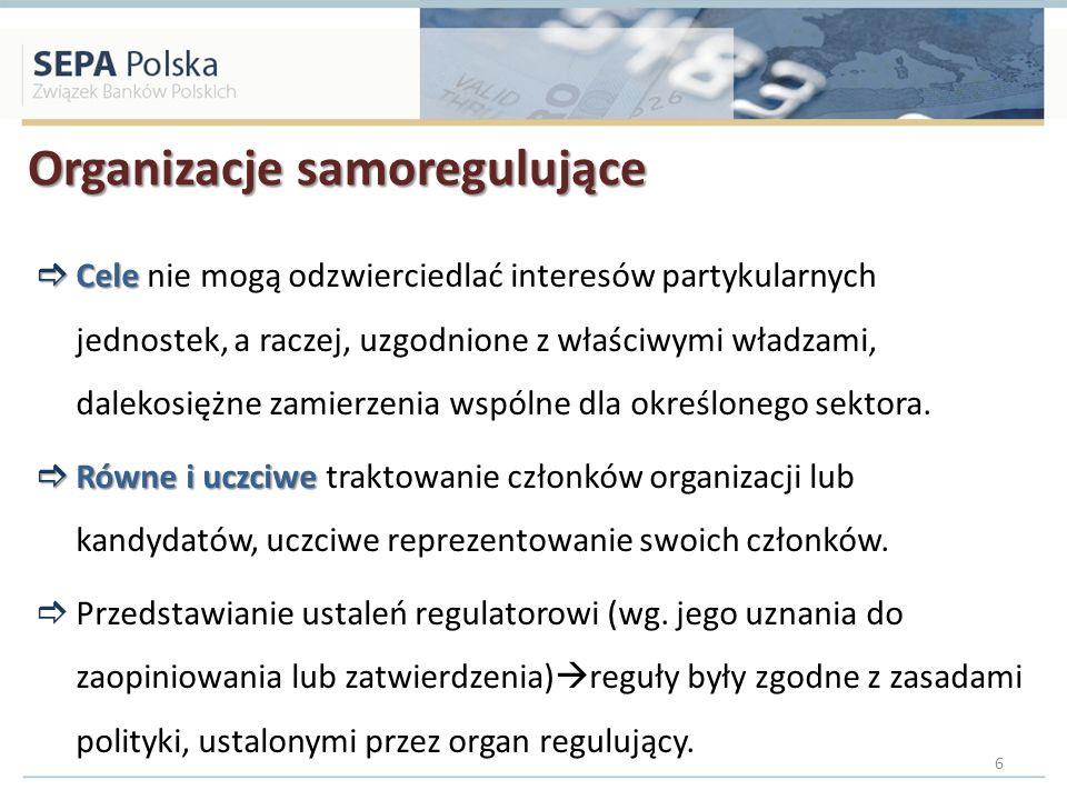 Korzyści samoregulacji (1/2) przedstawicieli regulowanego sektora Regulacja tworzona przez przedstawicieli regulowanego sektora: wiedza, doświadczenie, dbałość o kształt swojej działalności, Uwzględnianie interesów zainteresowanych podmiotów (konsultacje, ankiety, badania).