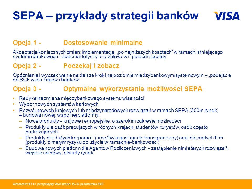 Presentation Identifier.6 Information Classification as Needed Wdrożenie SEPA z perspektywy Visa Europe I 15-16 października 2007 SEPA – przykłady str