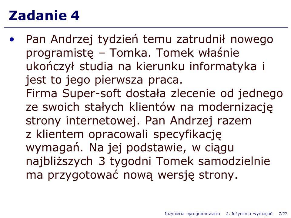 Inżynieria oprogramowania 2.Inżynieria wymagań 8/?.