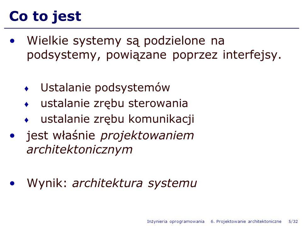 Inżynieria oprogramowania 6.
