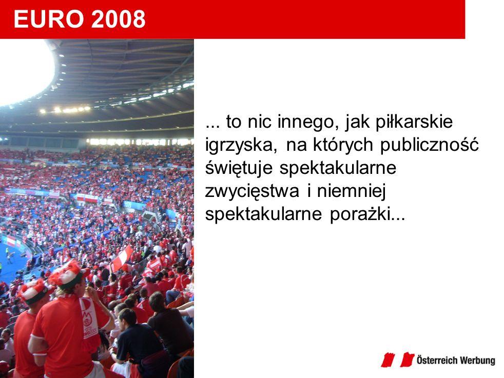 EURO 2008... to nic innego, jak piłkarskie igrzyska, na których publiczność świętuje spektakularne zwycięstwa i niemniej spektakularne porażki... EURO