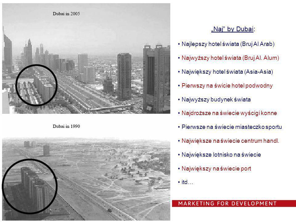 Naj by Dubai: Najlepszy hotel świata (Bruj Al Arab) Najwyższy hotel świata (Bruj Al. Alum) Największy hotel świata (Asia-Asia) Pierwszy na świcie hote