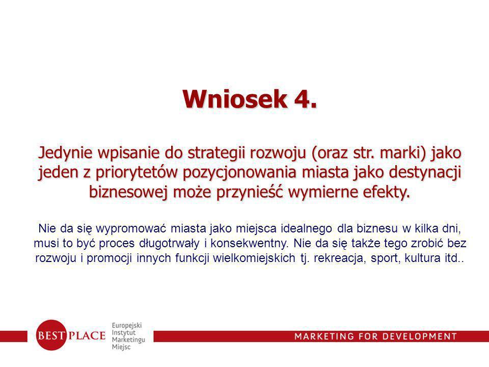 Wniosek 4.Jedynie wpisanie do strategii rozwoju (oraz str.