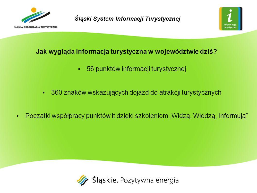 Jak wygląda informacja turystyczna w województwie dziś? 56 punktów informacji turystycznej 360 znaków wskazujących dojazd do atrakcji turystycznych Po