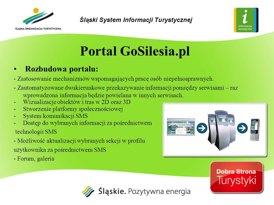 Rozbudowa portalu: - Zastosowanie mechanizmów wspomagających pracę osób niepełnosprawnych. - Zautomatyzowane dwukierunkowe przekazywanie informacji po