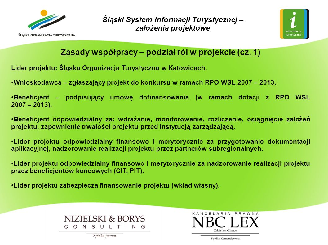 Zasady współpracy – podział ról w projekcie (cz.