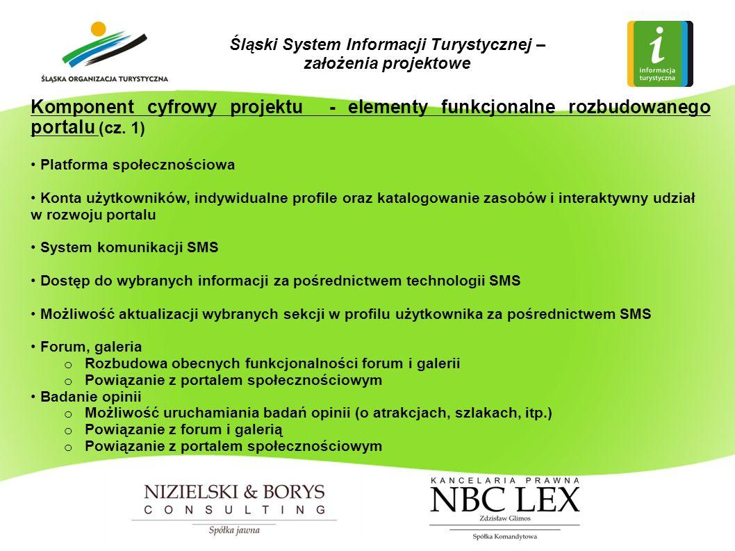Komponent cyfrowy projektu - elementy funkcjonalne rozbudowanego portalu (cz.