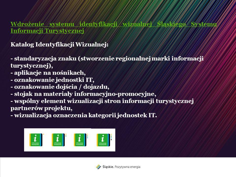 Wdrożenie systemu identyfikacji wizualnej Śląskiego Systemu Informacji Turystycznej Katalog Identyfikacji Wizualnej: - standaryzacja znaku (stworzenie