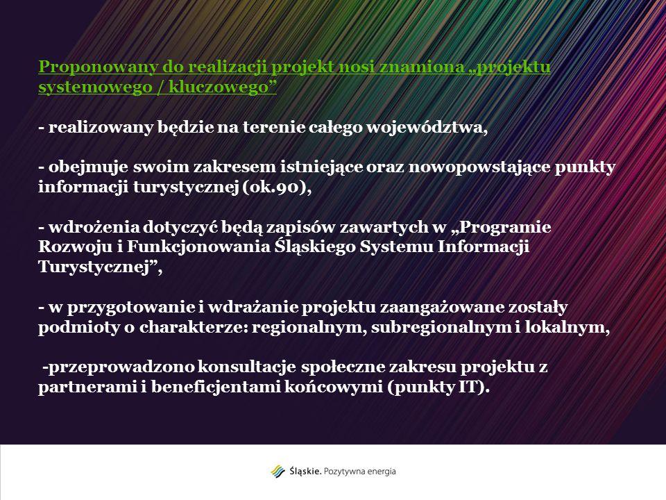 Trzy Komponenty projektu – Śląski System Informacji Turystycznej - Komponent analogowy (ASIT), - Komponent cyfrowy (CSIT), - Oznakowanie atrakcji turystycznych.