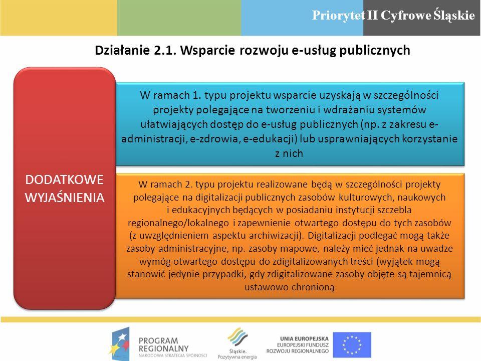 W ramach 1. typu projektu wsparcie uzyskają w szczególności projekty polegające na tworzeniu i wdrażaniu systemów ułatwiających dostęp do e-usług publ