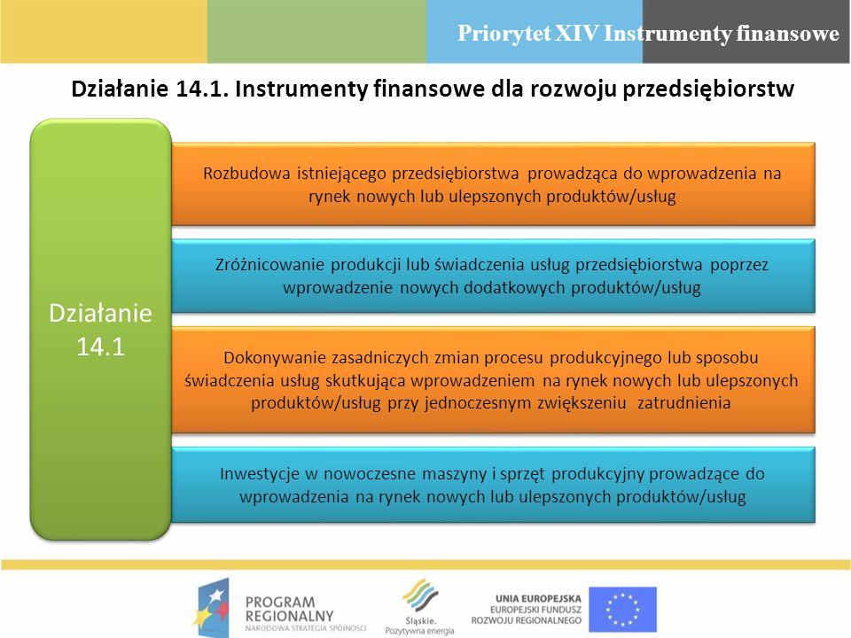 Działanie 14.1. Instrumenty finansowe dla rozwoju przedsiębiorstw Rozbudowa istniejącego przedsiębiorstwa prowadząca do wprowadzenia na rynek nowych l