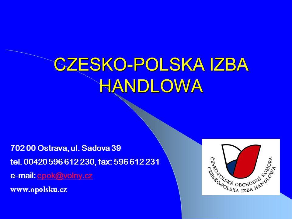 CZESKO-POLSKA IZBA HANDLOWA Součástí této prezentace bude pravděpodobně diskuse, jejíž výsledkem budou akce.
