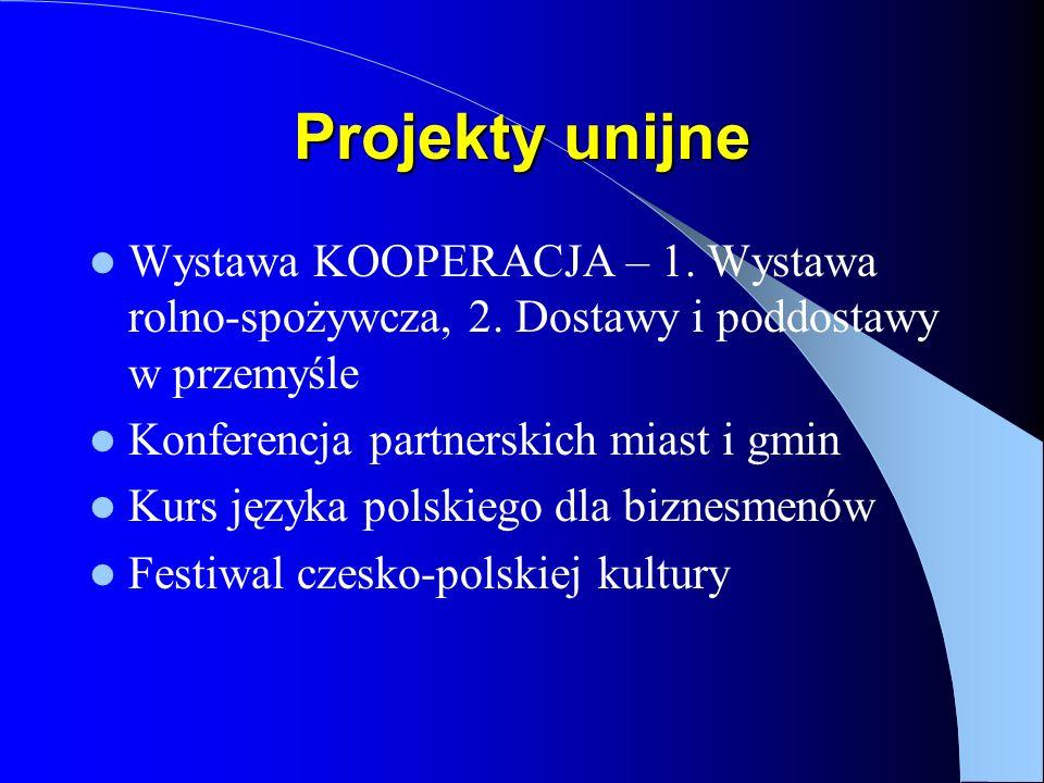 Projekty unijne Wystawa KOOPERACJA – 1. Wystawa rolno-spożywcza, 2.