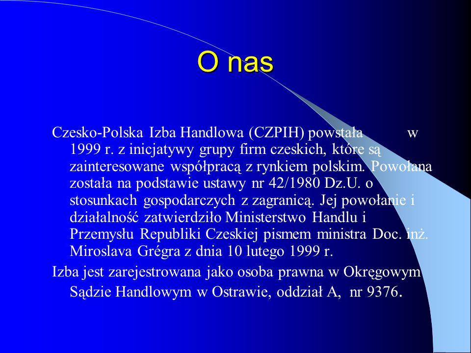 O nas Czesko-Polska Izba Handlowa (CZPIH) powstała w 1999 r.