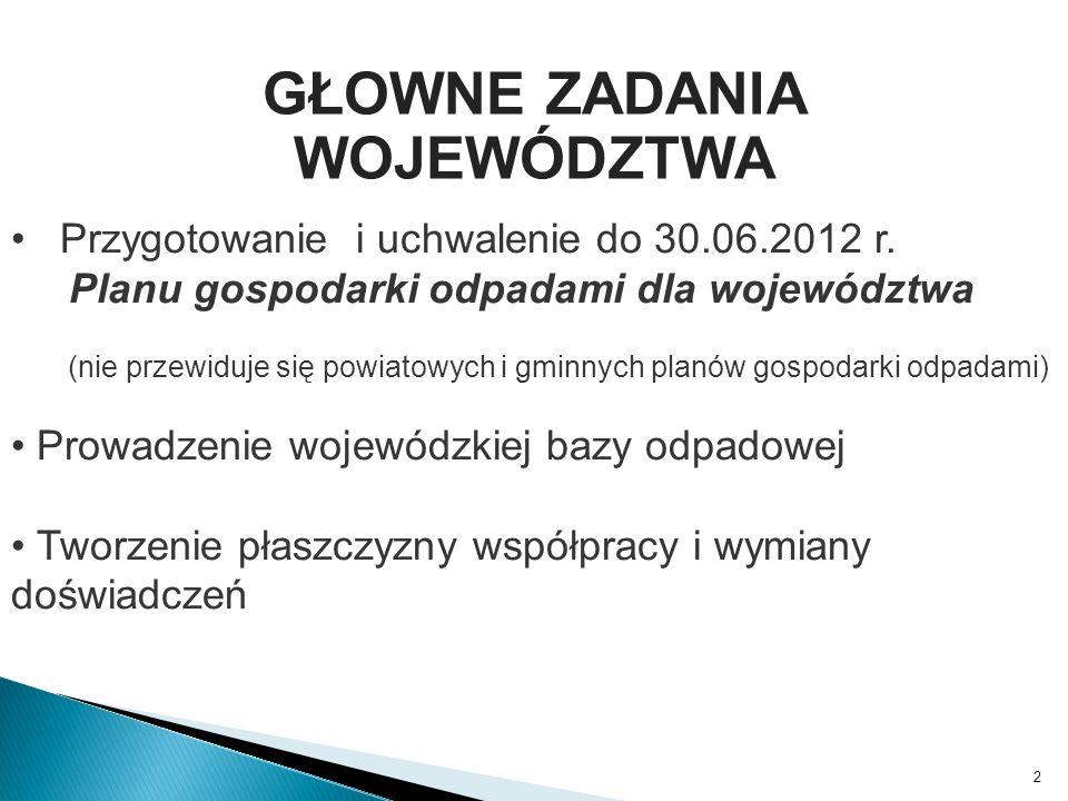 3 Okre ś lenie granic regionów ds.gospodarki odpadami – w ścisłej współpracy z gminami!!.