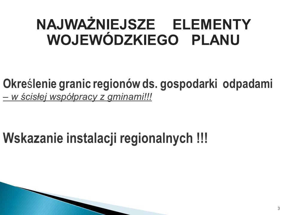 3 Okre ś lenie granic regionów ds. gospodarki odpadami – w ścisłej współpracy z gminami!!.