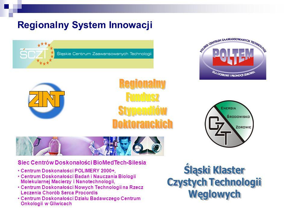 Regionalny System Innowacji Siec Centrów Doskonałości BioMedTech-Silesia : Centrum Doskonałości POLIMERY 2000+, Centrum Doskonałości Badań i Nauczania