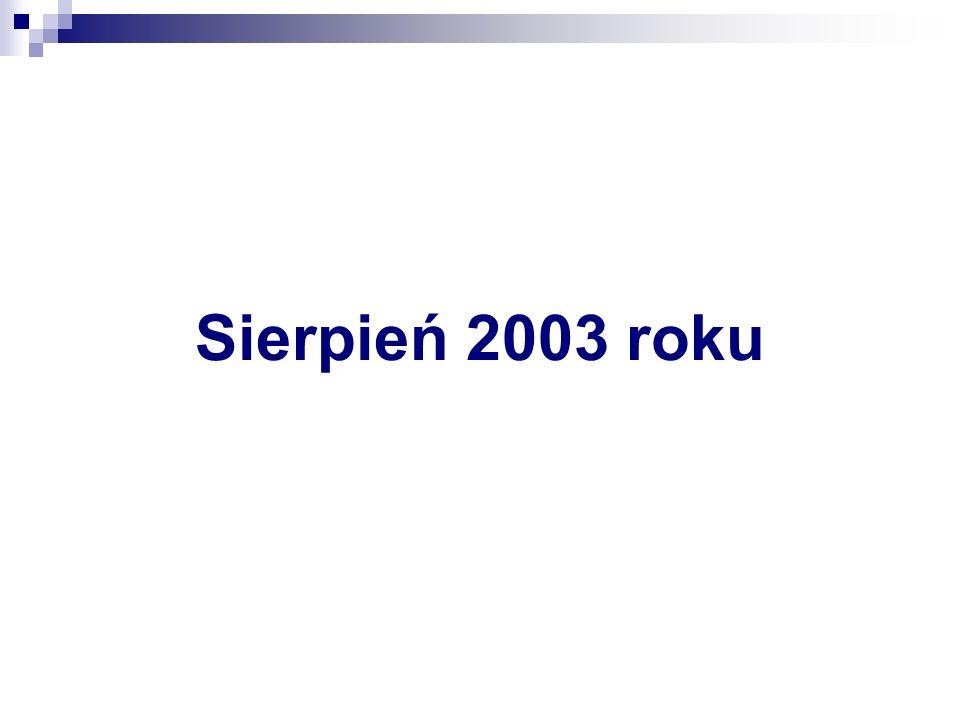 Sierpień 2003 roku