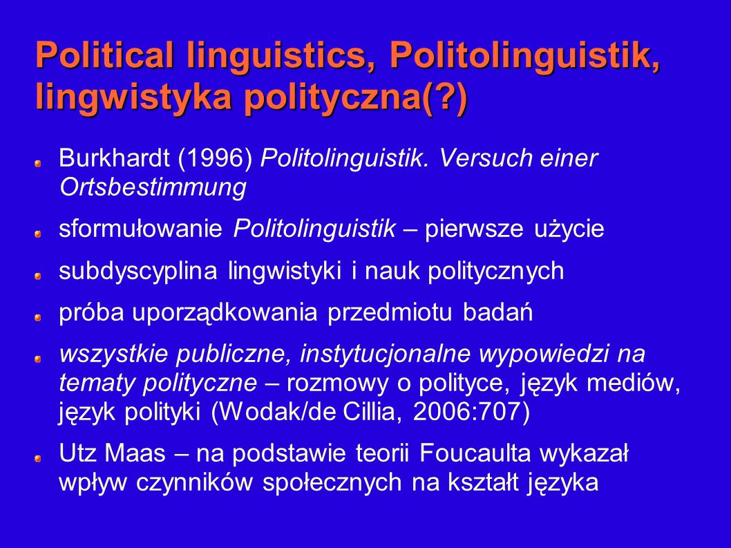 Politolinguistic approach wg.