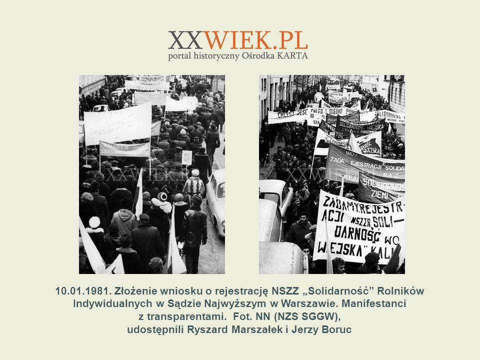 1.05.1982.Manifestacja pierwszomajowa na pl.