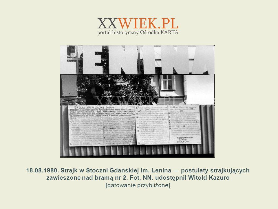 23.08.1980.Strajk w Stoczni Gdańskiej im.
