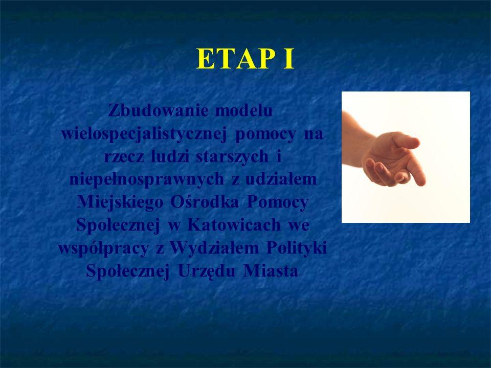ETAP II Przygotowanie kadr służb miejskich do realizacji wielospecjalistycznego wsparcia i pomocy poprzez: realizację szkoleń, warsztatów, konferencji, systematyczną wymianę doświadczeń i pomysłów związanych z realizacją potrzeb ludzi po siedemdziesiątym roku życia.