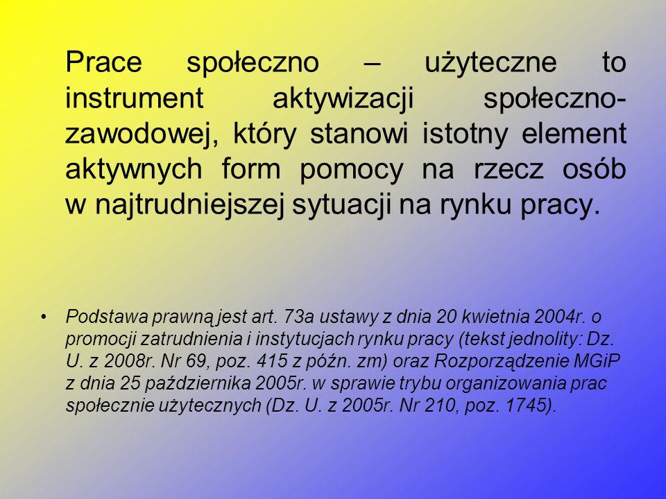 Realizacja prac społeczno – użytecznych odbywa się w Miejskim Ośrodku Pomocy Społecznej w Turku w ramach projektu Trampolina Projekt Trampolina współfinansowany ze środków Unii Europejskiej w ramach Europejskiego Funduszu Społecznego Program Operacyjny Kapitał Ludzki 2007-2013, Priorytet VII Promocja integracji społecznej, Działanie 7.1 Rozwój i upowszechnienie aktywnej integracji, Poddziałanie 7.1.1 Rozwój i upowszechnianie aktywnej integracji przez ośrodki pomocy społecznej