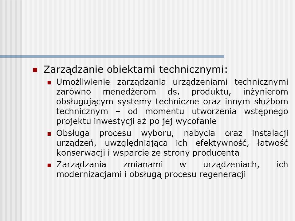 Zarządzanie obiektami technicznymi: Umożliwienie zarządzania urządzeniami technicznymi zarówno menedżerom ds. produktu, inżynierom obsługującym system