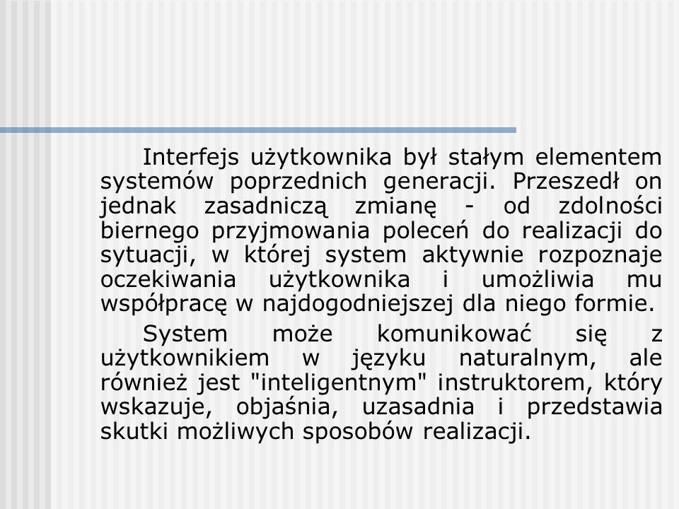 Interfejs użytkownika był stałym elementem systemów poprzednich generacji. Przeszedł on jednak zasadniczą zmianę - od zdolności biernego przyjmowania