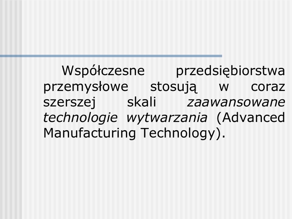 Współczesne przedsiębiorstwa przemysłowe stosują w coraz szerszej skali zaawansowane technologie wytwarzania (Advanced Manufacturing Technology).