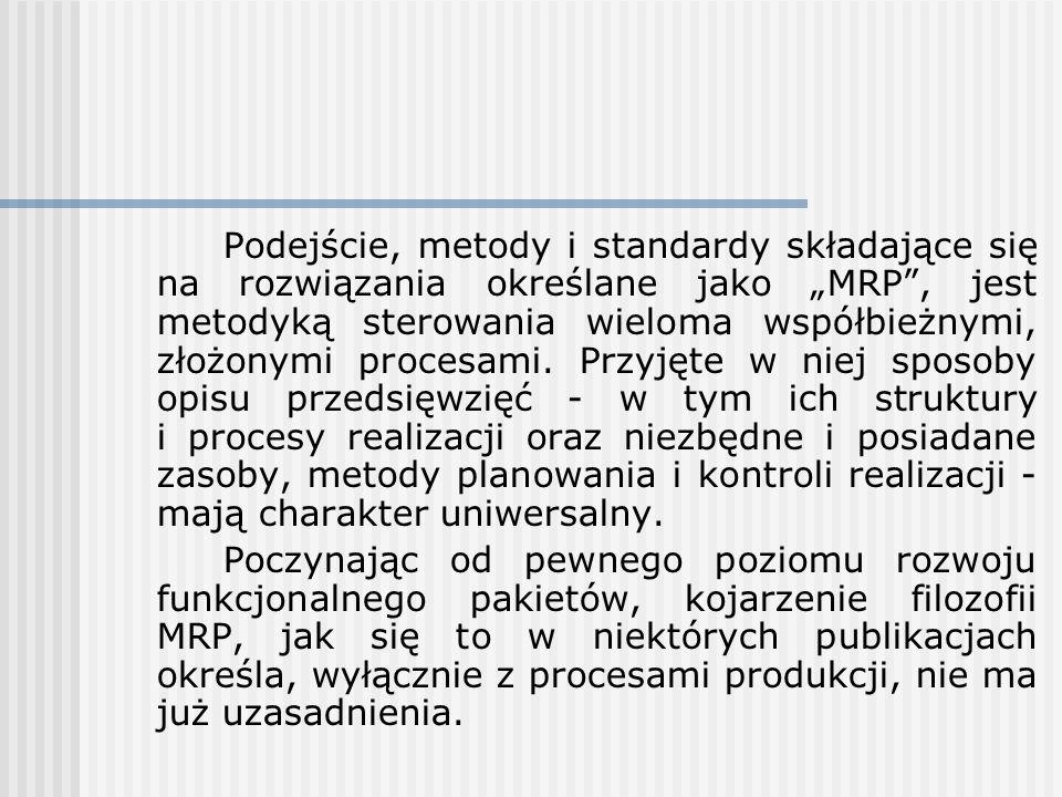 Podejście, metody i standardy składające się na rozwiązania określane jako MRP, jest metodyką sterowania wieloma współbieżnymi, złożonymi procesami. P