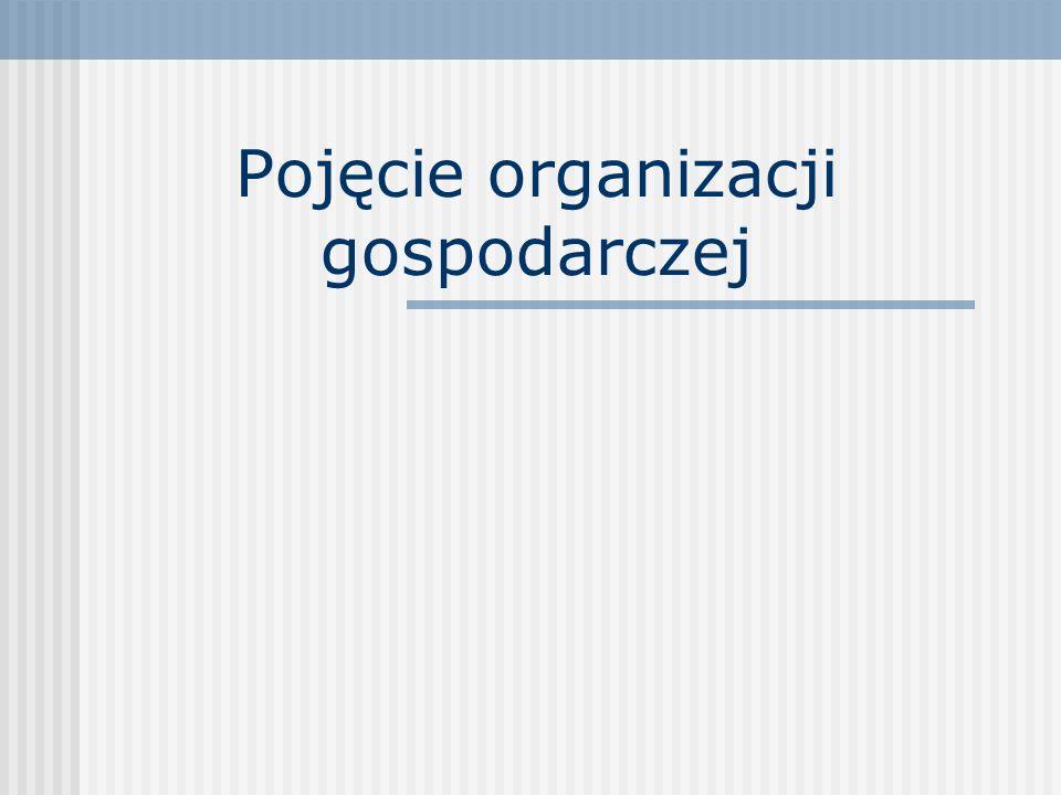Pojęcie organizacji gospodarczej
