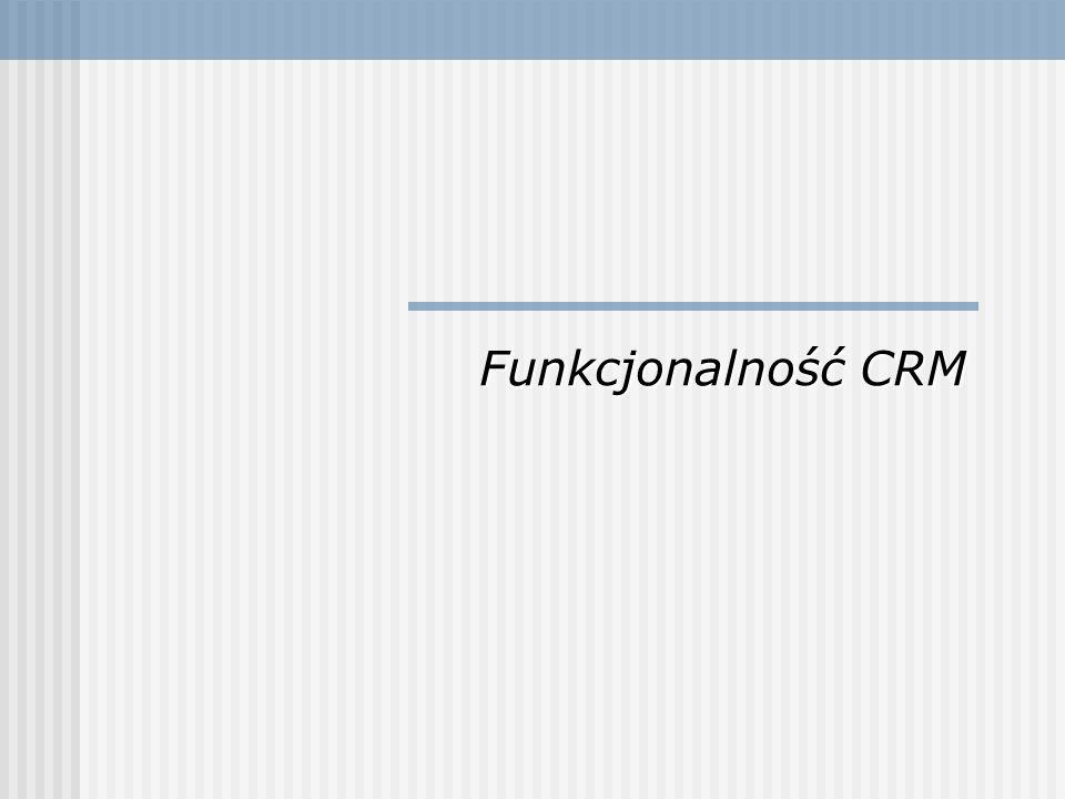 Początek systemom CRM dały proste aplikacje typu zarządzanie kontaktami, łączące funkcje kalendarza i prostej bazy danych (proste, jednostanowiskowe aplikacje Contact Management).