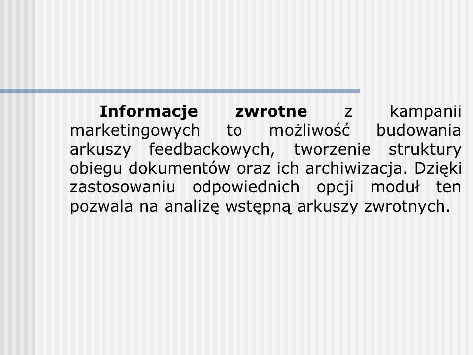 W ramach modułu Promocje zaimplementowano prosty mechanizm content managementu, za pomocą którego administrator (dział marketingu) może określać wygląd strony głównej, jak również i podstron dotyczących konkretnej grupy katalogowej, konkretnego produktu, bądź trwających promocji.