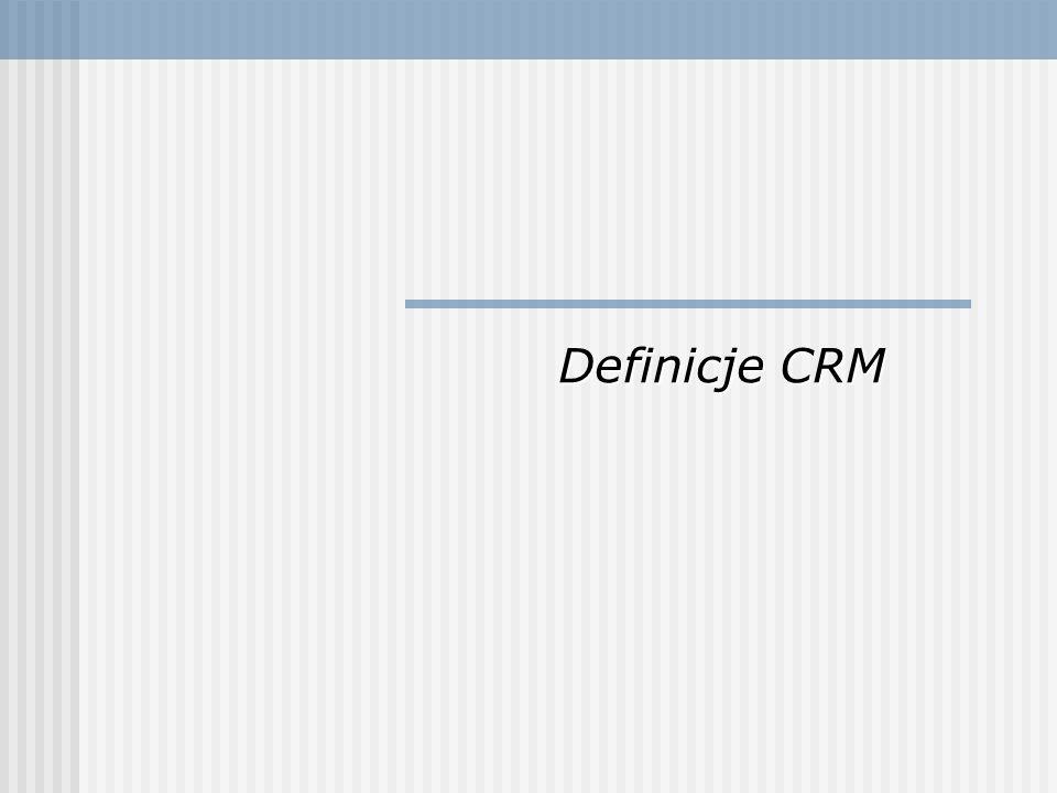 CRM to strategia biznesowa polegająca na takim dobieraniu i zarządzaniu klientami, aby optymalizować ich wartość w długim okresie.