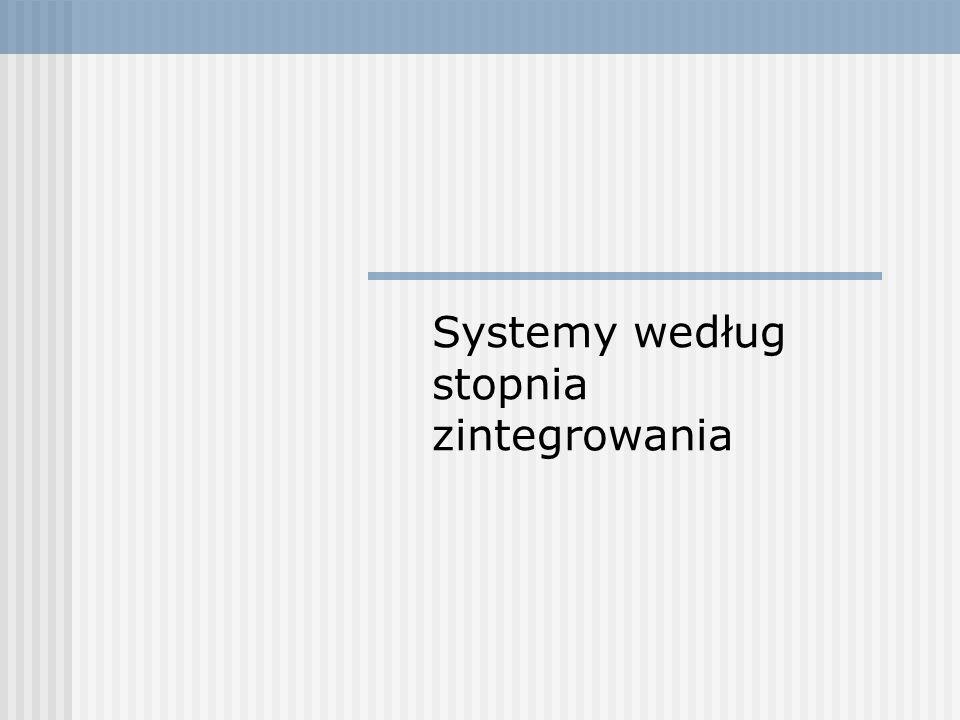 Systemy według stopnia zintegrowania