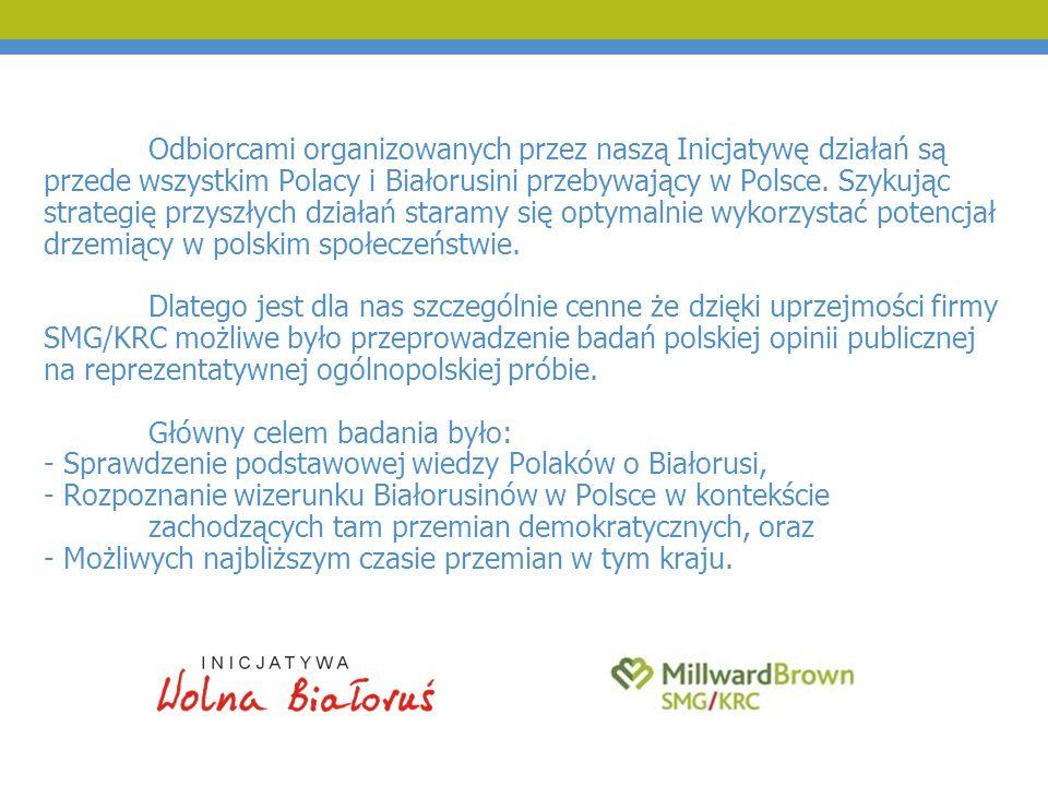 Odbiorcami organizowanych przez naszą Inicjatywę działań są przede wszystkim Polacy i Białorusini przebywający w Polsce. Szykując strategię przyszłych