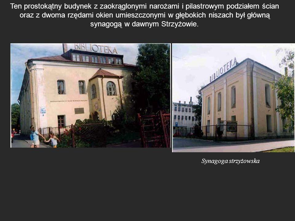Ten prostokątny budynek z zaokrąglonymi narożami i pilastrowym podziałem ścian oraz z dwoma rzędami okien umieszczonymi w głębokich niszach był główną