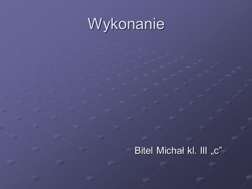 Wykonanie Bitel Michał kl. III c Bitel Michał kl. III c