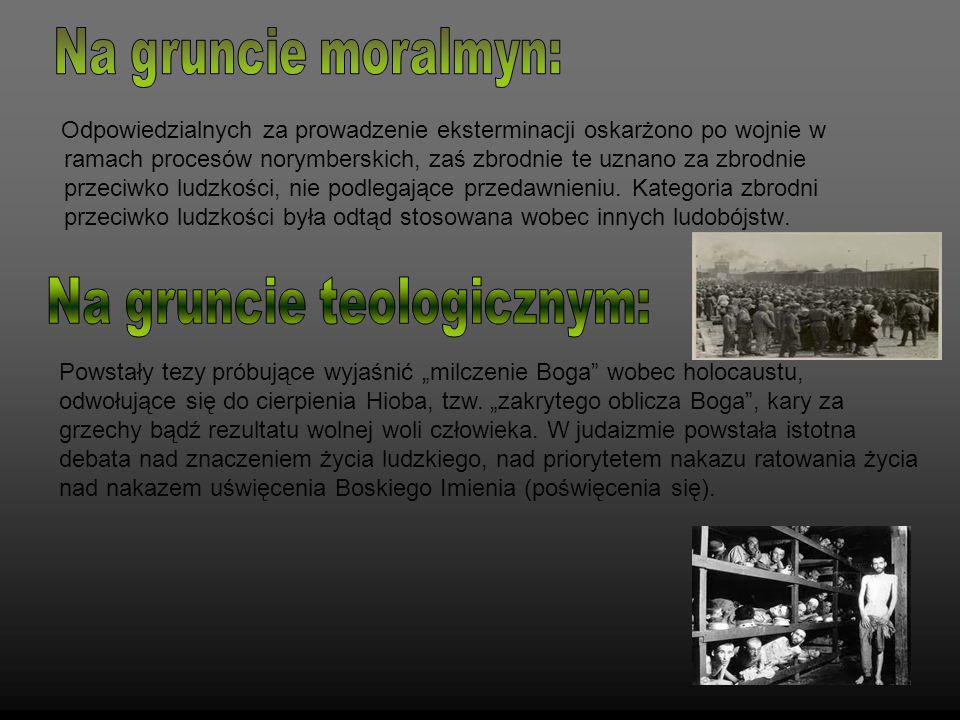 Odpowiedzialnych za prowadzenie eksterminacji oskarżono po wojnie w ramach procesów norymberskich, zaś zbrodnie te uznano za zbrodnie przeciwko ludzko