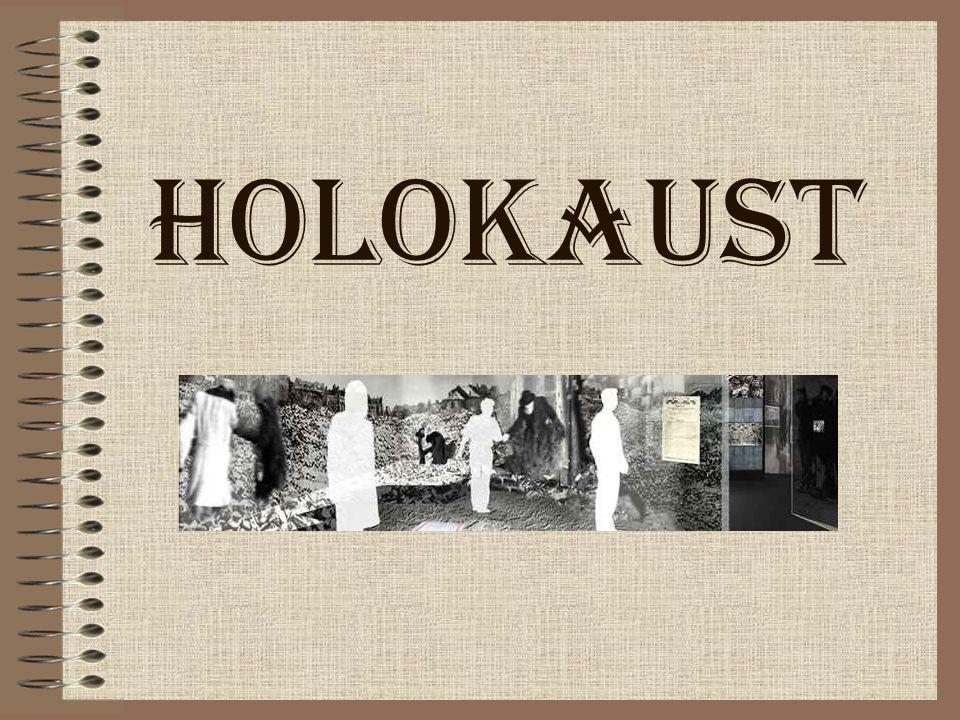 Spis treści Wyjaśnienie pojęcia Holokaust Prześladowania przed wybuchem II wojny światowej Polityka eksterminacyjna w czasie II wojny światowej Plan ostatecznego rozwiązania kwestii żydowskiej Następstwa polityki Holokaustu Galeria
