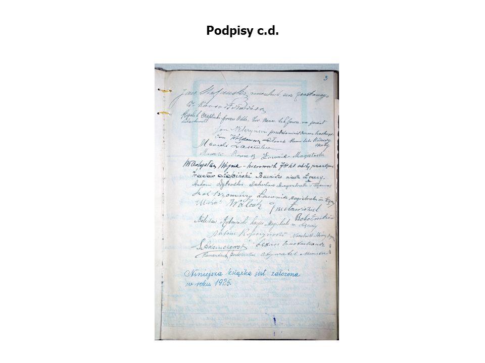 Podpisy c.d.